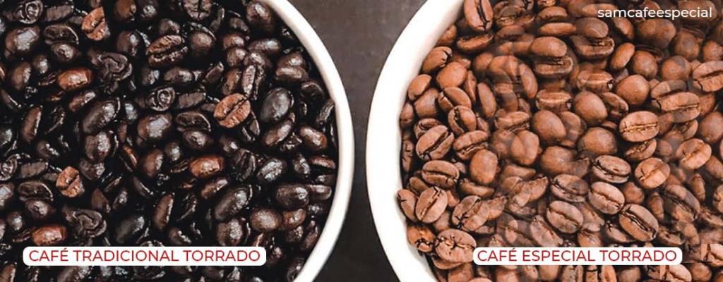 Diferença entre os grãos de café tradicionais para os grãos de café especial.